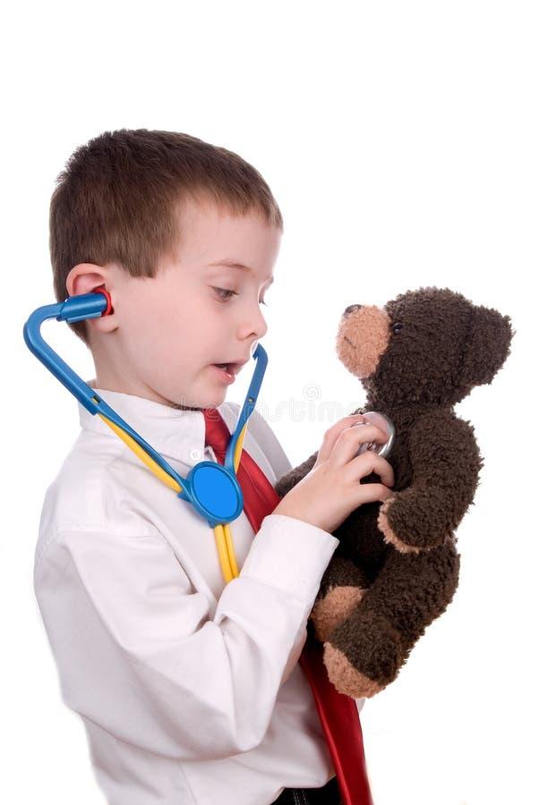 pojkedoktor fotografering för bildbyråer