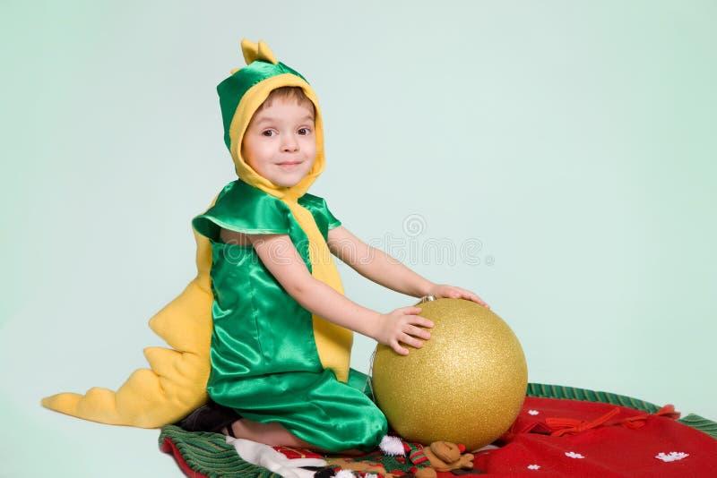 pojkedrake little royaltyfri foto