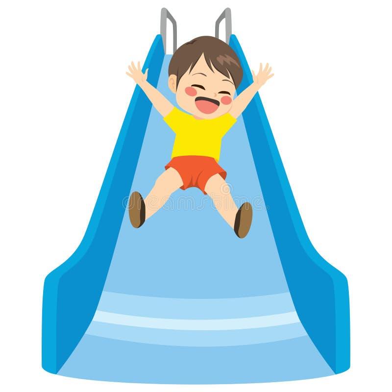Pojkeglidbanalekplats stock illustrationer
