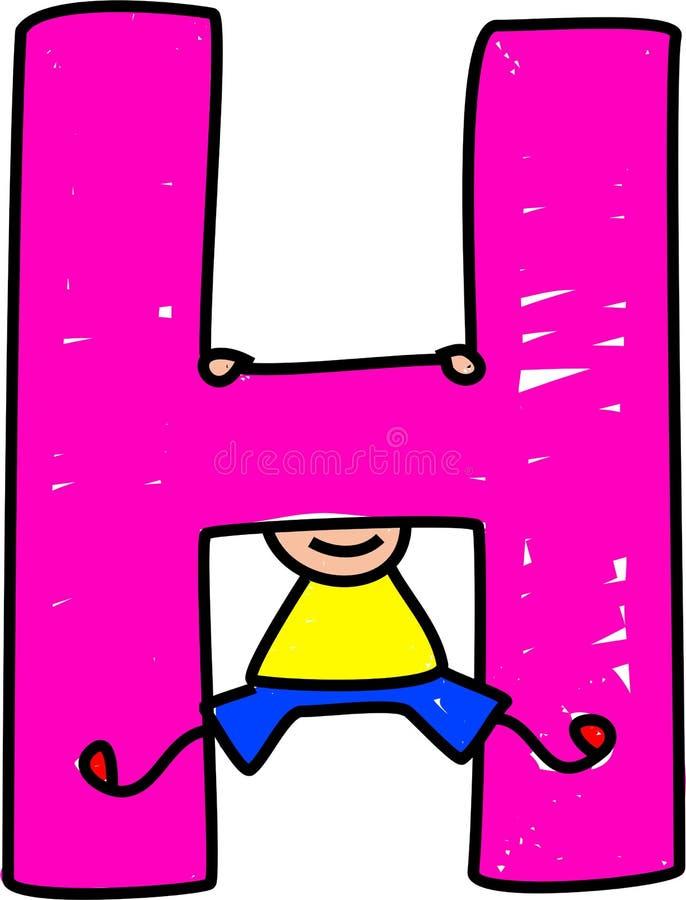pojkeH-bokstav royaltyfri illustrationer