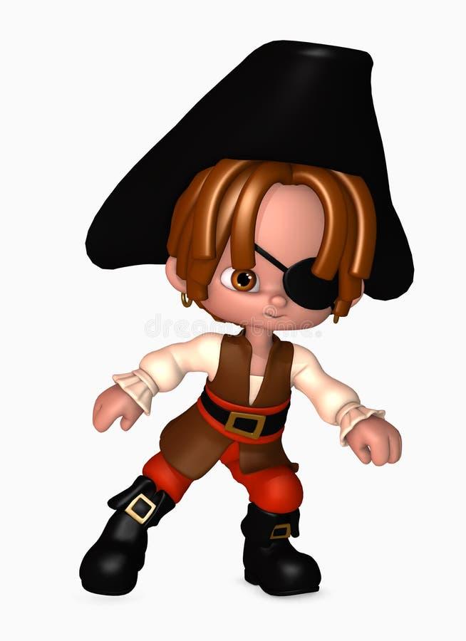 pojken 3d piratkopierar stock illustrationer