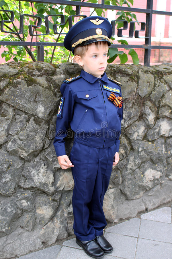 Pojkepilot arkivbild