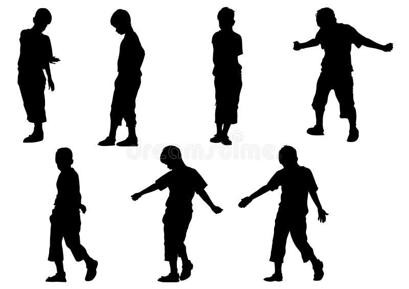 pojkerörelse stock illustrationer