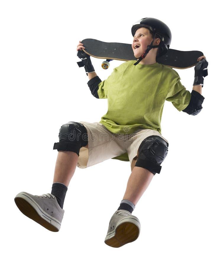 pojkeskateboarder royaltyfri bild