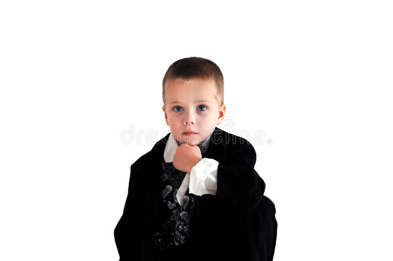 Pojketänkare royaltyfria bilder