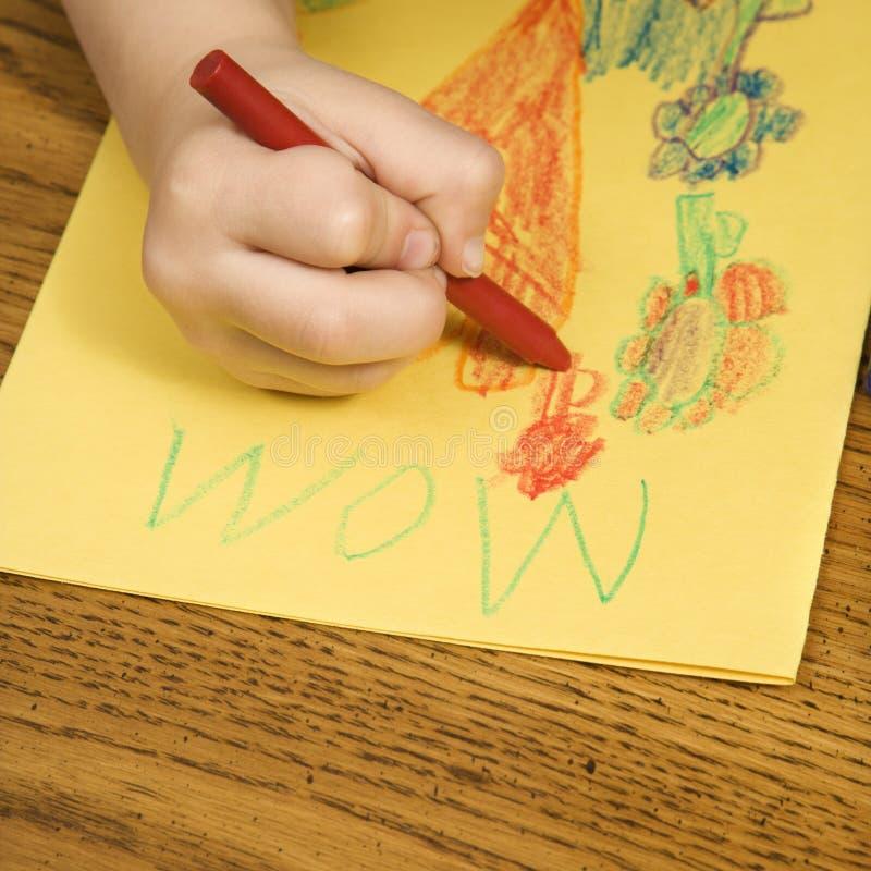 pojketeckning arkivbilder