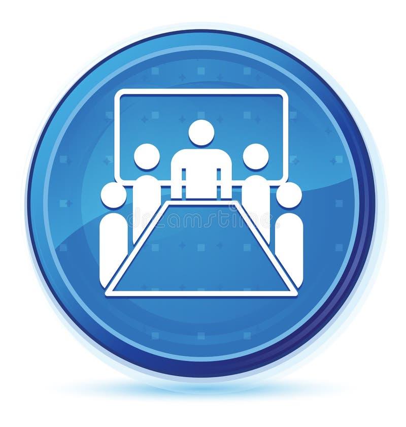 Pokój konferencyjny ikony północy round błękitny pierwszorzędny guzik ilustracji