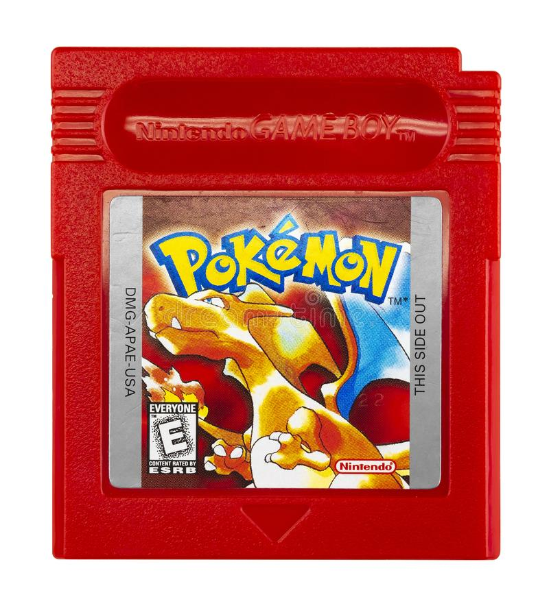 Pokémon Nintendo Game boy. Pokémon is a series of video games developed by Game Freak and published by Nintendo as part of the Pokémon media franchise stock photos