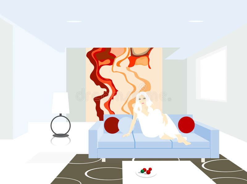 pokój ilustracji