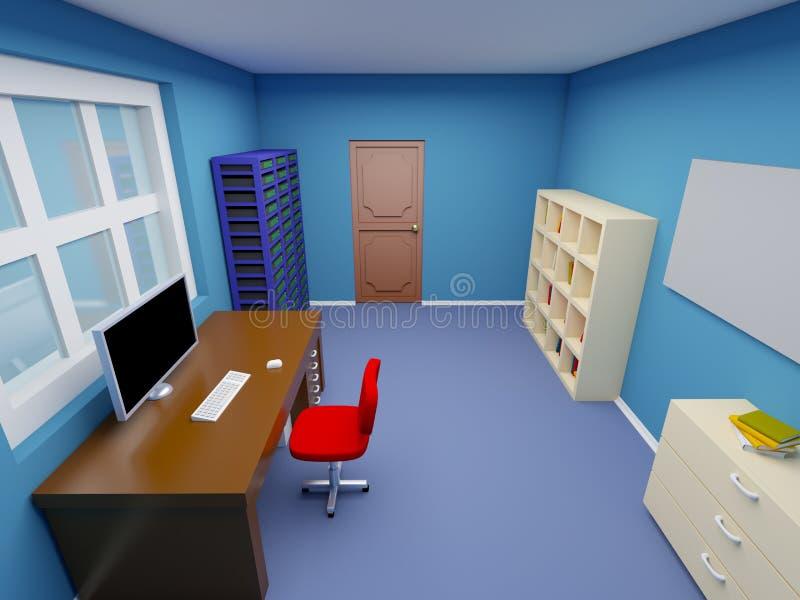 Pokój administrator systemu ilustracja wektor