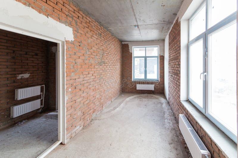 Pokój bez kończyć Nowy projekt w nowym domu Budowa i wynajem biura obraz royalty free