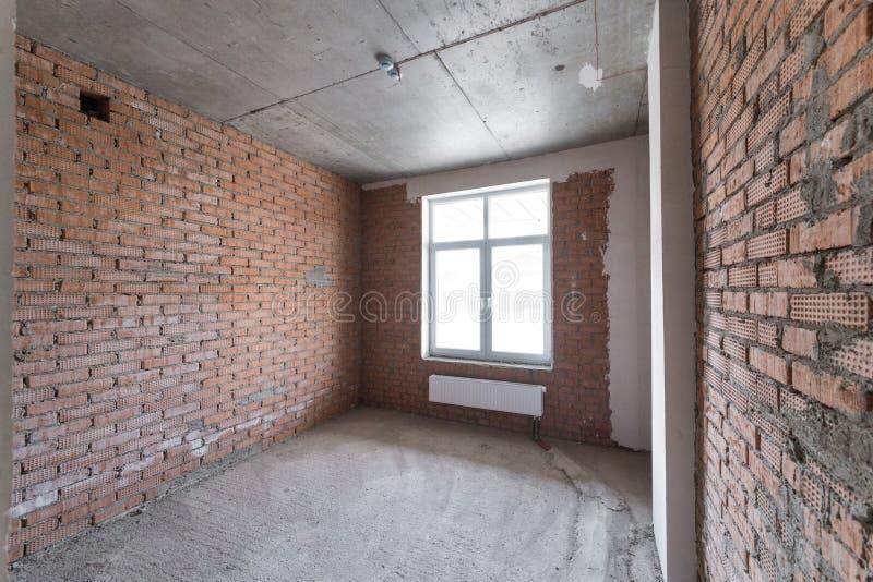 Pokój bez kończyć Nowy projekt w nowym domu Budowa i wynajem biura fotografia royalty free