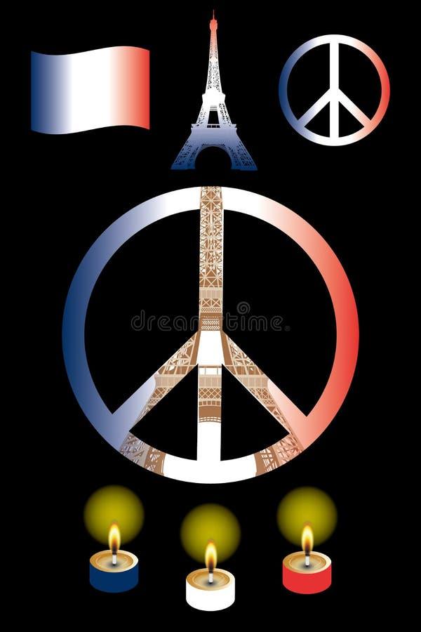 Pokój dla Paryż ilustracji