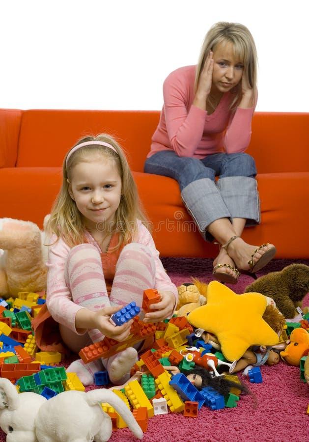 pokój dziecinny jest nieporządny zdjęcie stock