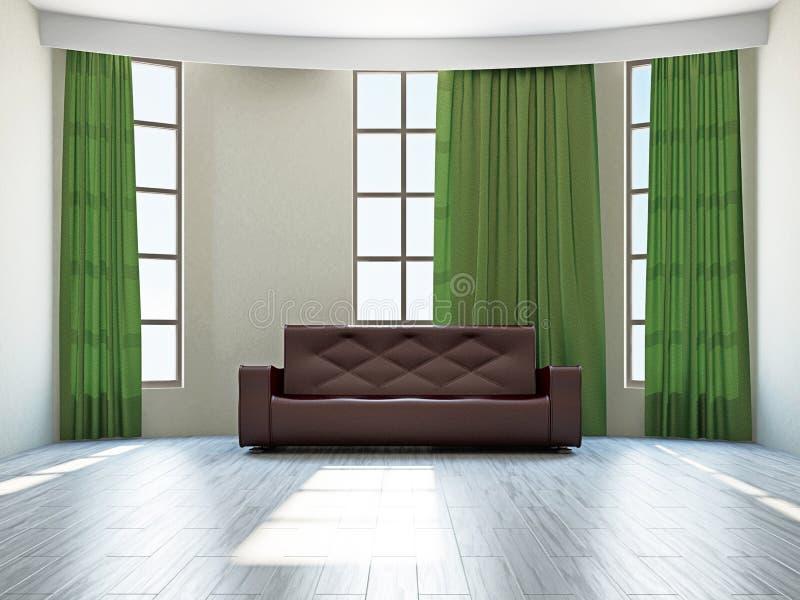 Pokój dzienny z kanapą ilustracja wektor