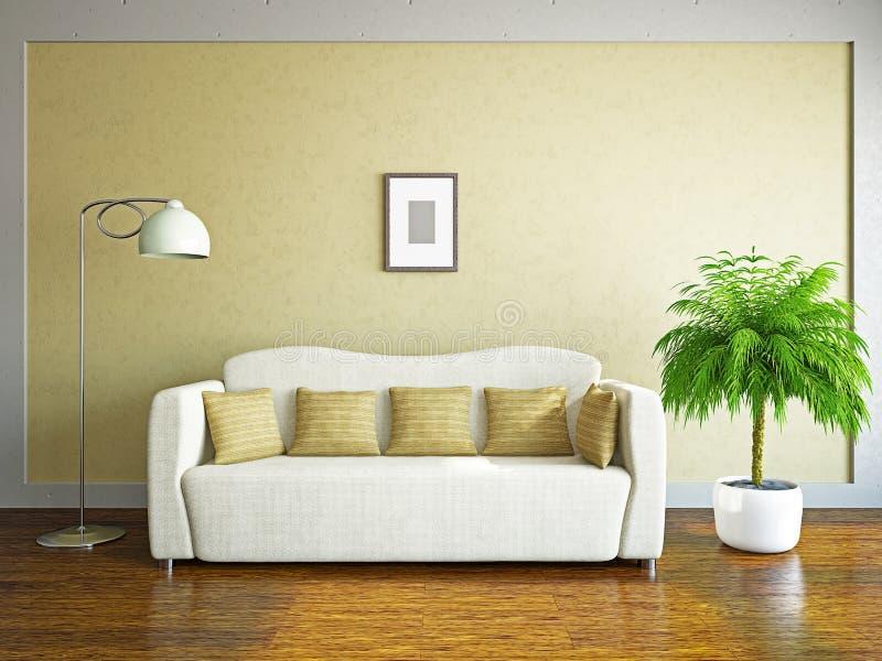 Pokój dzienny z kanapą royalty ilustracja