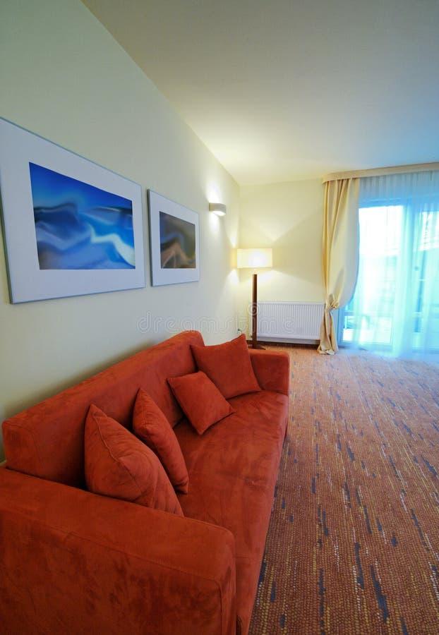 pokój hotelowy kanapa fotografia stock