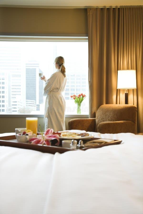 pokój hotelowy na śniadanie obraz royalty free