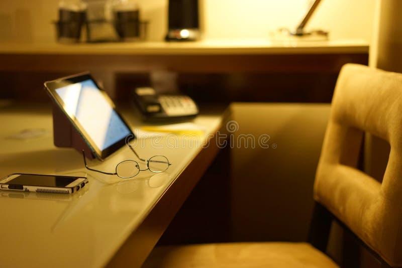 Pokój hotelowy pracy środowisko obrazy stock