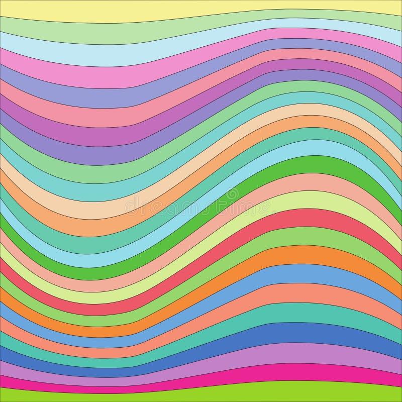 Pokój kolorowe fala obrazy stock