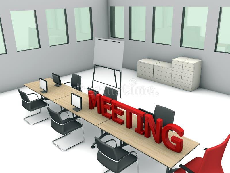 Download Pokój konferencyjny ilustracji. Ilustracja złożonej z krzesła - 28960139