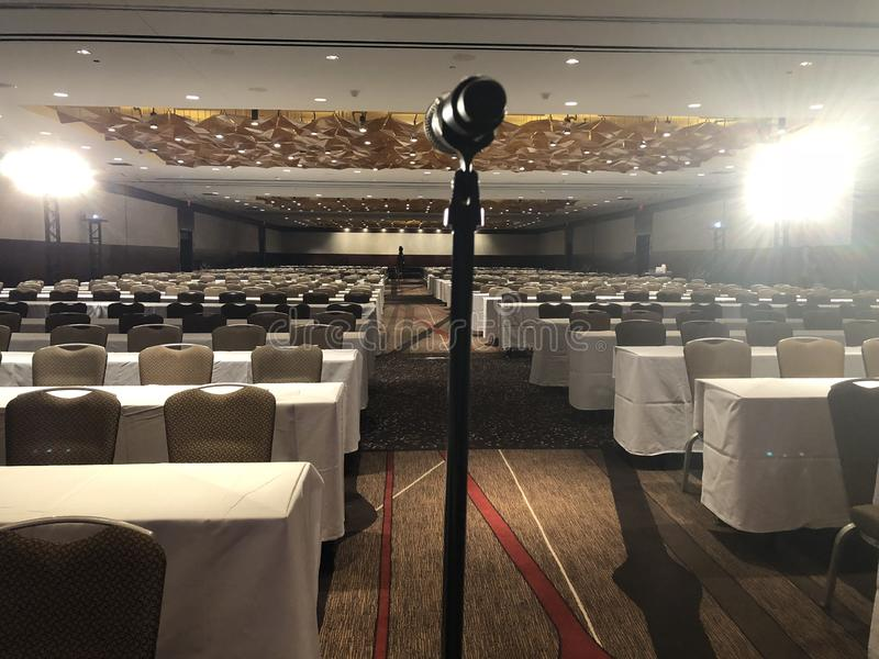 Pokój Konferencyjny dla Wielkiego wydarzenia lub konferencji obraz stock