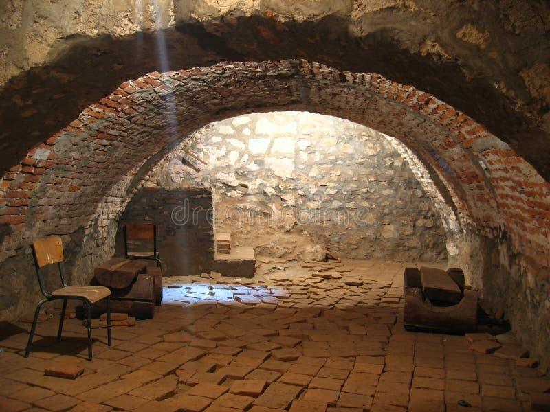 Pokój w średniowiecznym kasztelu obrazy royalty free