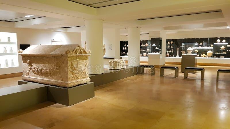 Pokój w muzeum narodowym Bejrut bejrutu Lebanon zdjęcia stock