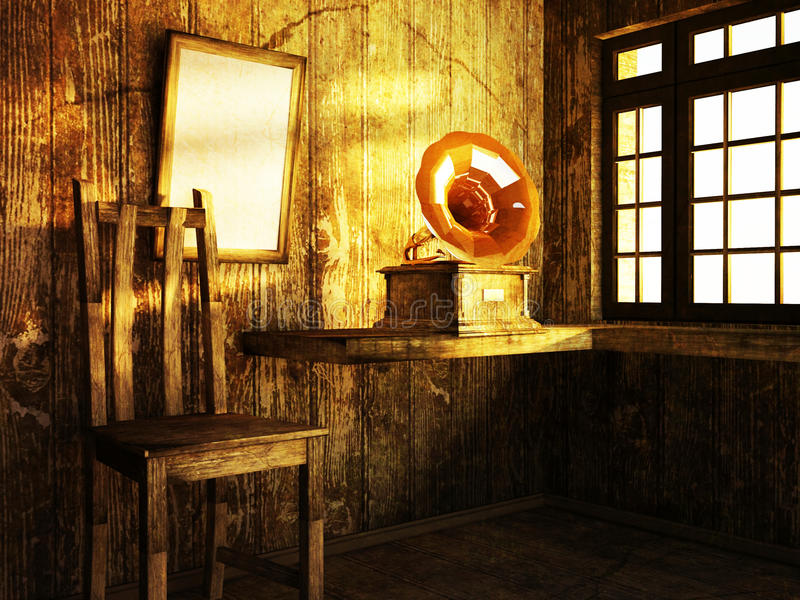 Download Pokój Z Drewnianym Podstrzyżeniem Ilustracji - Ilustracja złożonej z scena, budynek: 41954868