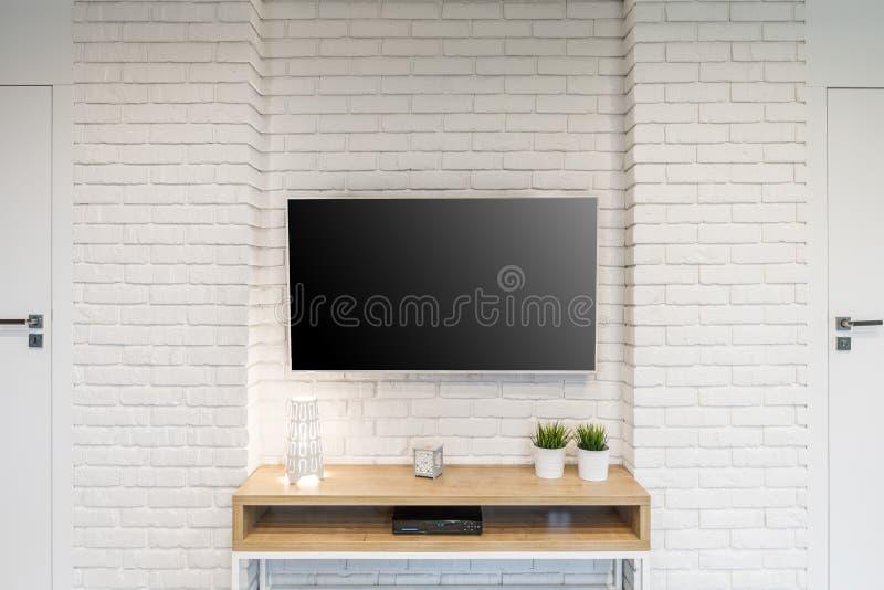 Pokój z Tv zdjęcie royalty free