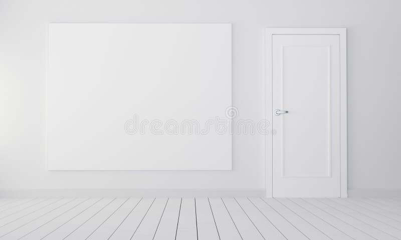 Pokój z zamkniętym drzwi i opróżnia miejsce ilustracja wektor