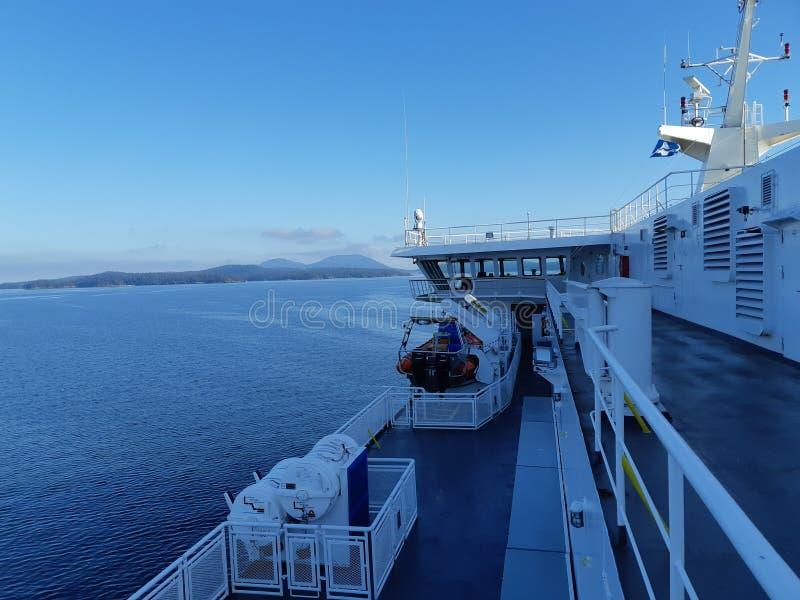 Pokład promu statek obraz stock