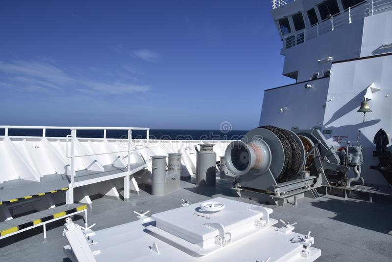 Pokład przemysłowy statek fotografia royalty free
