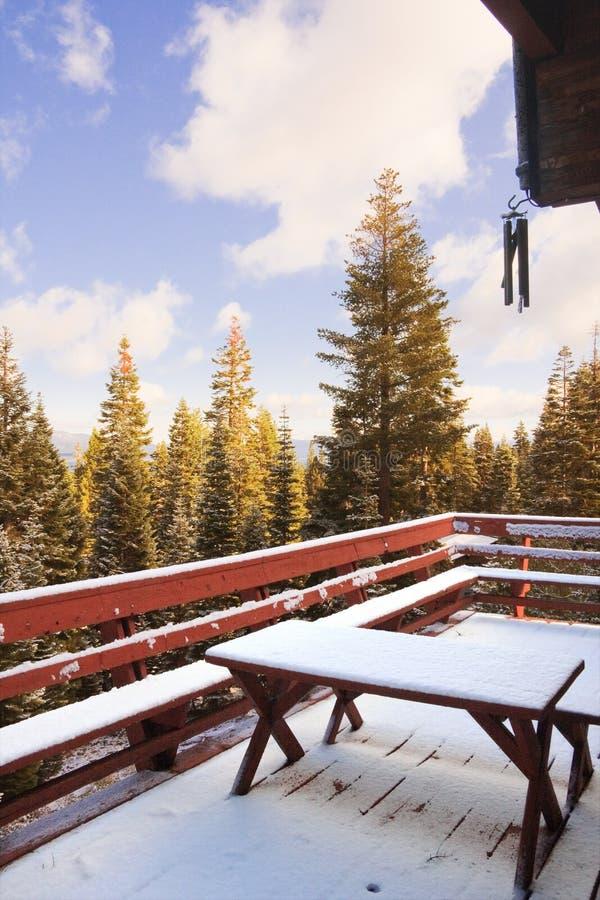 pokładu śnieg fotografia stock