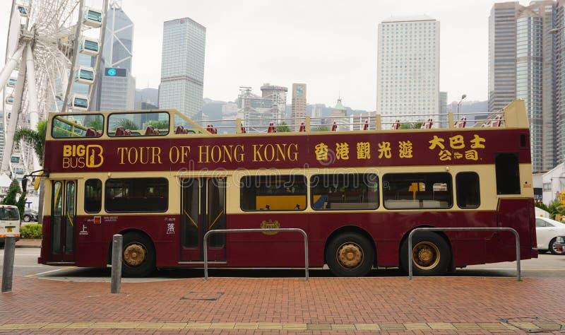 Pokładu autobusowy bieg w Hong Kong zdjęcia stock