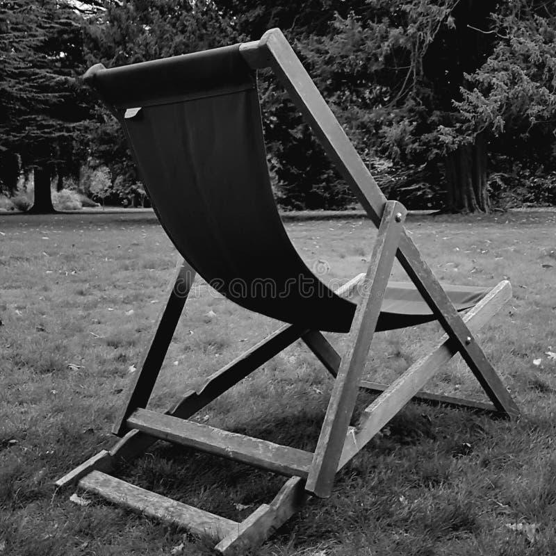 Pokładu krzesło zdjęcia stock