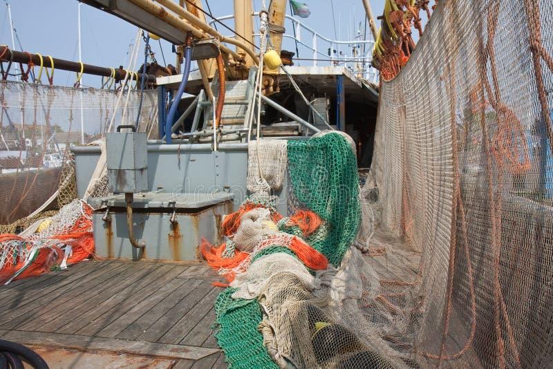 pokładu suszarniczy holenderski sieci rybackich statek zdjęcie stock
