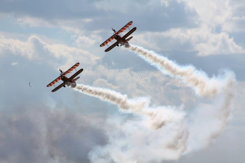 pokaz lotniczy dym zdjęcie stock