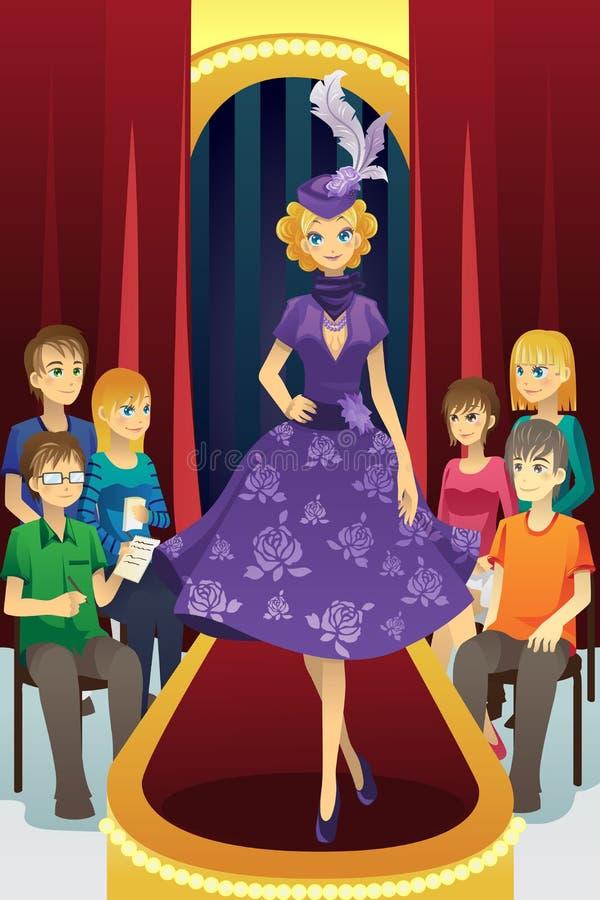 pokaz mody ilustracji