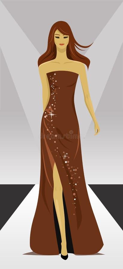 pokaz mody wektor royalty ilustracja
