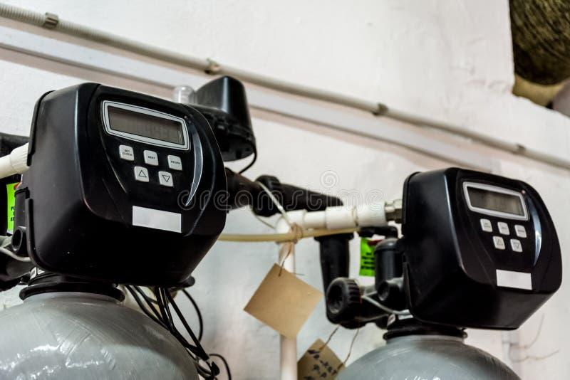 Pokaz przemysłowy wodny filtr zdjęcie royalty free
