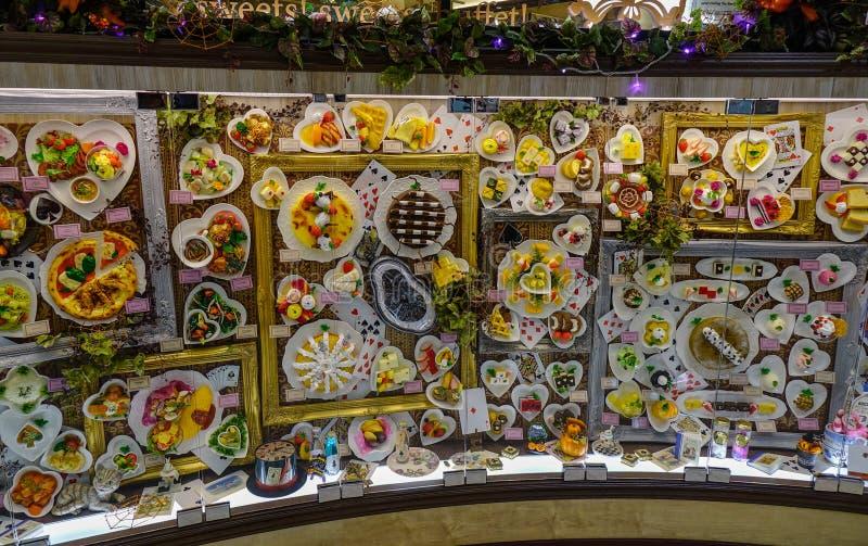 Pokaz replika desery i jedzenie obraz stock