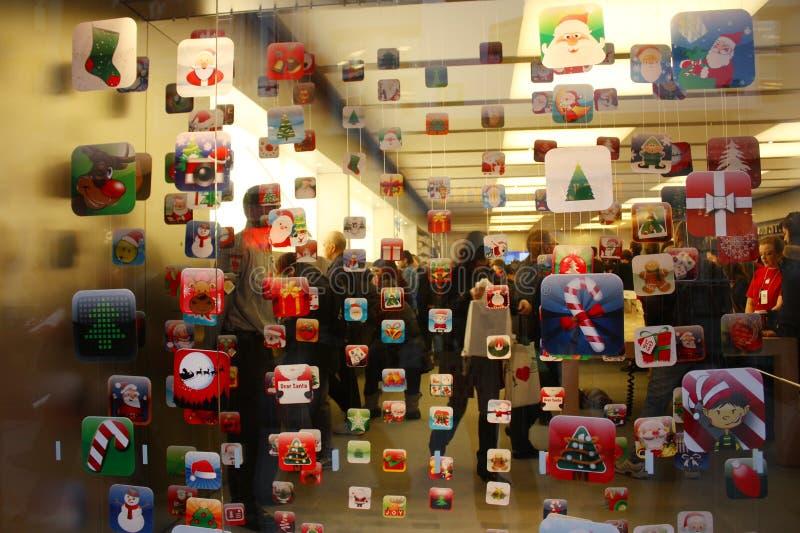 pokazu jabłczany sklep obraz royalty free