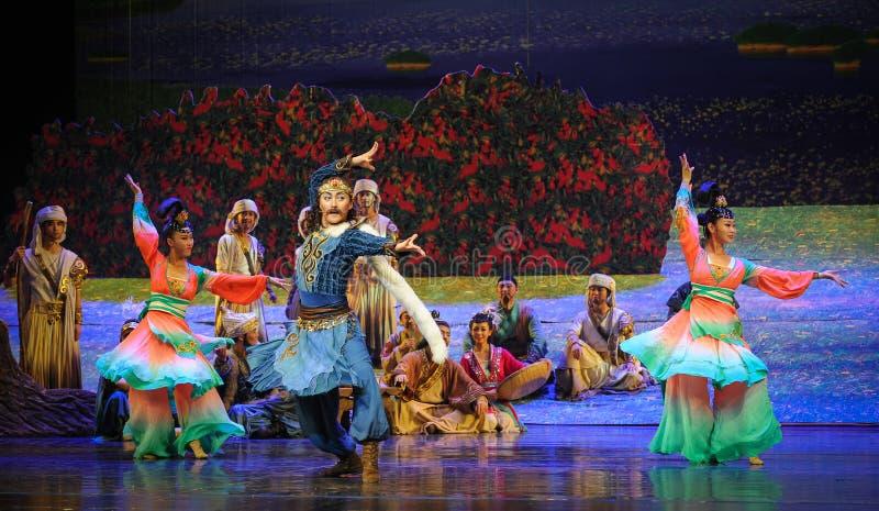 Pokazuje tanu baletniczą księżyc nad Helan obrazy stock