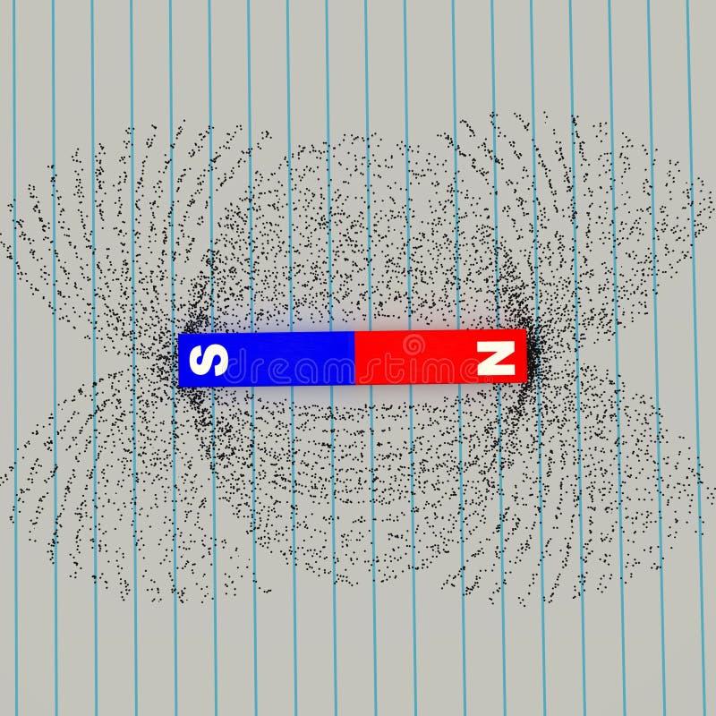 pokazuje zgłoszenia polowych siły żelaza linii mam magnetyczną moc ilustracja wektor