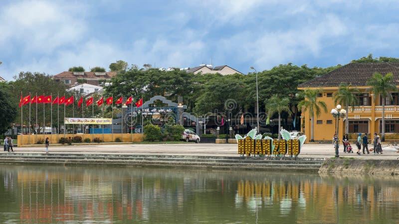 Pokazy świętujący Chińskiego nowego roku 2019 w Hoi, Wietnam zdjęcie stock