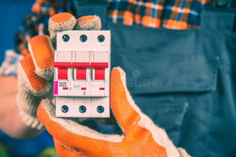 Pokazywać Elektrycznego Switcher fotografia royalty free