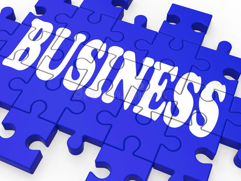 Pokazywać Korporacyjne Transakcje biznesowa Łamigłówka ilustracja wektor