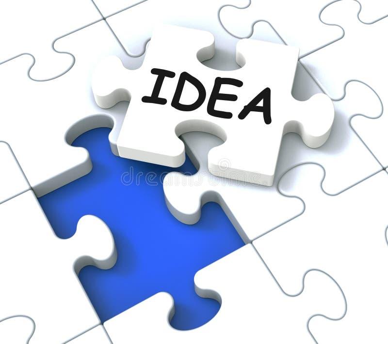 Pokazywać Kreatywnie Innowacje pomysł Łamigłówka ilustracji