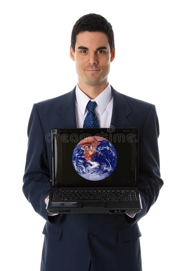 Pokazywać laptop zdjęcie royalty free